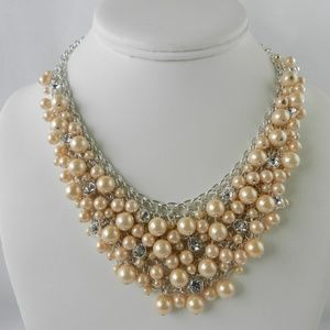 Charter Club Silver-Tone  Pink Pearl Necklace